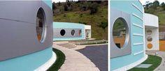 arquitetura fachada janelas redondas - Pesquisa Google