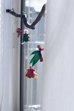 Einfach selbst machen: Frühlingsfeen aus Filz - Waldorf Inspiriert