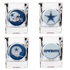 New York Islanders Square Shot Glass Set Cowboys Bar, Nfl Dallas Cowboys, Houston Texans, Tailgate Bar, Shot Glass Set, St Louis Blues, Tampa Bay Rays, San Diego Padres, Dallas Mavericks