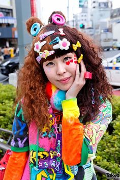 Harajuku Rainbow Decora Color Explosion Girls