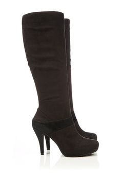Black Platform High Leg Boot