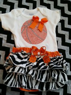 Basketball body suit for my future daughter... I love this... So cute...