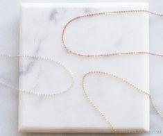 Plain Necklace Chain Fine Necklace Cable Chain by BlushesAndGold