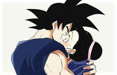 Chichi and Goku. It's hard to find good ChichiXGoku art and I love this. Goku's face.