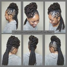 locs — thelovelyqueenp: I just finished barrel twisting. Dreadlock Styles, Dreads Styles, Natural Hair Care, Natural Hair Styles, Loc Updo, Beautiful Dreadlocks, Dreadlock Hairstyles, Dream Hair, Hair Dos