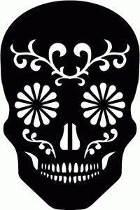 sugar skull stencil - Google Search
