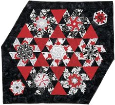 Black and White With a Little Red. Quilt from Doubledipity: More Serendipity Quilts by Sara Nephew