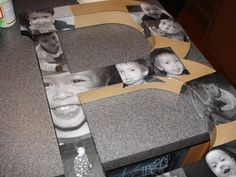 How to decorate a letter with photos! So cute!