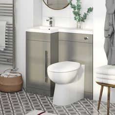 Orchard Myspace Grey Left Handed Basin & Toilet Combination Unit with Concealed Cistern Bathroom Layout, Modern Bathroom, Bathroom Sinks, Bathroom Ideas, Small Bathrooms, Fitted Bathroom, Attic Bathroom, Family Bathroom, Bathroom Furniture