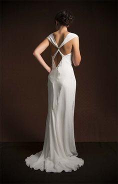 La Poésie Bridal Violette Silk Crepe de Chine Wedding Dress // www.lapoesie.co.uk