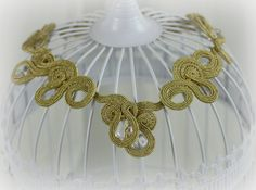 Bridal Statement NecklaceBracelet Soutache by SDSoutacheDreams