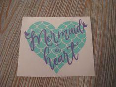 Mermaid Decal - Mermaid at Heart Decal - Mermaid Car Decal - Car Decal - Monogram Decal - Monogram Car Decal - Heart Decal - Decal - Mermaid by TheSaltyKiss on Etsy