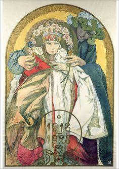Alphonse Mucha Art, Fine Art Prints, Canvas Prints, 10 Anniversary, The Republic, Heritage Image, Photo Greeting Cards, Poster Size Prints, Fantasy Art
