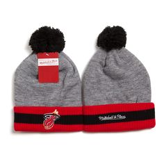 Mitchell and Ness Miami Heats Knit Beanie Hats 9173! Only $7.90USD