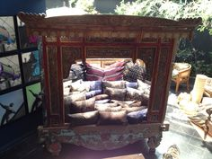 Old teak daybed. www.topdeco.net
