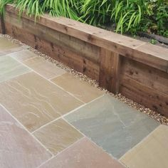 Outstanding in value, this is a range of Kebur's own imported Indian Sandstone Paving Available in four beautiful colours to create a stunning natural patio Garden Slabs, Garden Paving, Garden Paths, Terrace Garden, Patio Slabs, Back Garden Design, Backyard Garden Design, Backyard Landscaping, Backyard Ideas