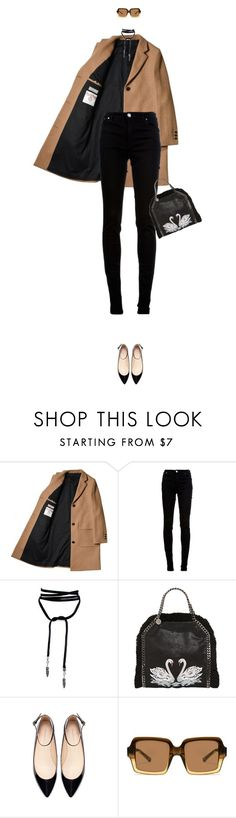 """""""Untitled #3022"""" by mitchelcrandell ❤ liked on Polyvore featuring dVb Victoria Beckham, STELLA McCARTNEY, Zara and The Row"""