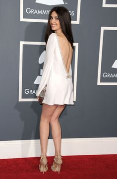 Paz Vega at the 53rd Annual Grammy Awards in Los Angeles #azzaro