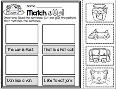 FREEBIE - Match the picture with the sentence.