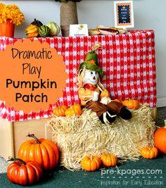 Dramatic Play Pumpkin Patch Ideas for #preschool and #kindergarten