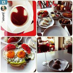"""""""#Repost @junon_ ・・・ Ada Cafe'de kahvalti ve muhallebi enfes... Gelincikli sakizli muhallebi, rezeneli yumurta gelincik serbeti, gelincikli kurabiye .....…"""""""