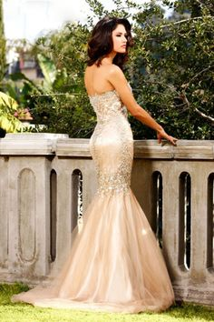 Vintage Sweetheart Floor Length Mermaid/Trumpet Beaded Tulle Dresses  stunning.
