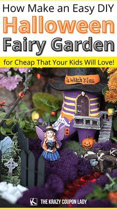 Make an Easy DIY Halloween Fairy Witch Garden