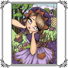 """The Coloring Wallflower on Instagram: """"I guess I'm on a Hannah Lynn kick. This one is from Fairy Tale Princesses and Storybook Darlings. Digitally colored using Procreate.…"""" Coloring Book Art, Colouring Pages, Hannah Lynn, Color Palettes, Color Inspiration, Fairy Tales, Mermaid, Princess Zelda, Kawaii"""