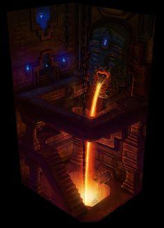 DWARVEN FORGE (PART_01) by Valder -son of Valder-, via Behance High Fantasy, Sci Fi Fantasy, Fantasy World, Fantasy Dwarf, Medieval Fantasy, Rpg Minecraft, Greek Creatures, Dwarven City, Dwarf Fortress