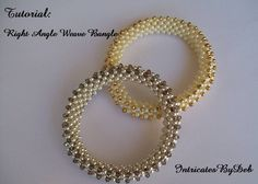 Tutorial for Beaded Right Angle Weave Lattice Bangle - DIY Tutorial, PDF Pattern