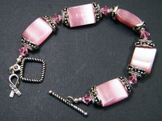 Hope Bracelet with Awareness Charm by paulette72 on Etsy, $15.00