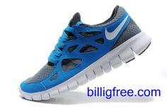 Verkaufen billig Herren Nike Free Run 2 Schuhe (Farbe:vamp-blau, grau,innen-grau, Logo, Sohle-weiB) Online in Deutschland.