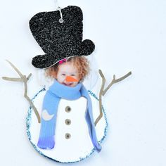 Photo Snowman Gift Tag | Spoonful