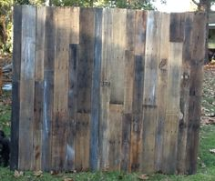 Large Rustic Wood Headboard.