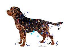 Rottweiler wall art Printable Rottweiler by TangerineMarmalade