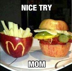 Hahaha ohh mom