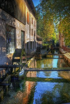 Old water-mill, in Vallorbe, France Places To Travel, Places To Go, Hdr Photography, Abandoned Houses, Beautiful Places, Amazing Places, Beautiful Landscapes, The Good Place, Castle