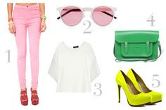 carry those neon shoes to perfection!