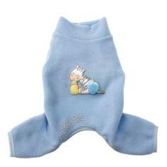 Dolce sonno by Lella su, soft and comfortable blu pajamas for your little dog | Soffice e comodo pigiama in blu, per il tuo cagnolino. Find more on http://www.chic4dog.com/pigiamini/dolce-sonno-1562.html