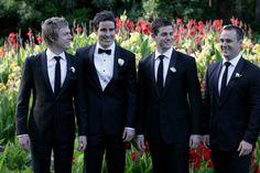 Groom bow tie & groomsmen tie