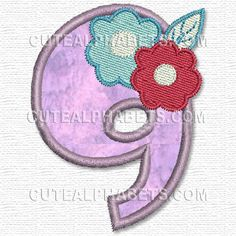 Free Embroidery Design: Clementine Numbers – 9