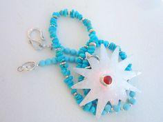 Genuine Sleeping Beauty Turquoise necklace. by Iridonousa on Etsy