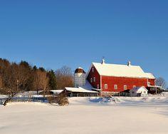 Vermont Farm in Winter - Reading, Vermont, via Flickr.