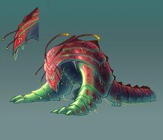Fantasy Monster, Monster Art, Monster Hunter, Mythical Creatures Art, Weird Creatures, Creature Concept Art, Creature Design, Fantasy Character Design, Character Design Inspiration
