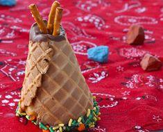 Cupcake TeePees via Edible Crafts | CraftGossip.com