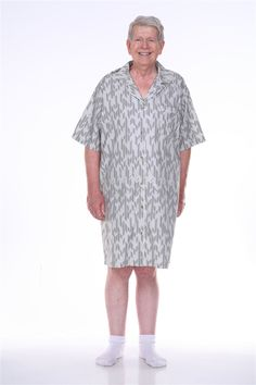 Practical La Redoute Collections Mens Checked Nightshirt With Grandad Collar Clothing, Shoes & Accessories