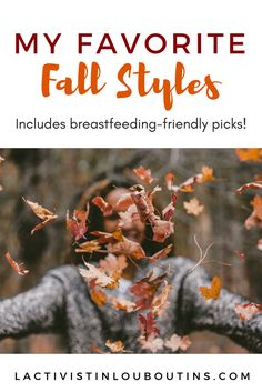 Five of my favorite fall trends - including links to shop and  breastfeeding-friendly picks!