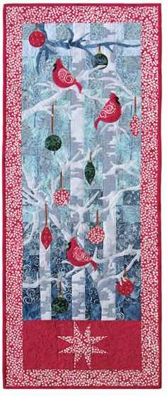 "From Suzanne's Quilts, one called Majestic Splendor, 18 x 46"" and unfortunately no longer in stock."