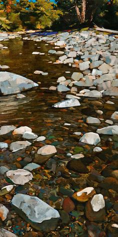 Flowing Water, by Min Ma