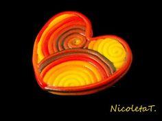 Autumnal heart brooch by NicoletaT on Etsy, €9.50